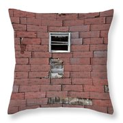 Side Of An Abandoned Old Barn Throw Pillow