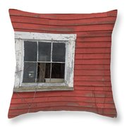 Side Of An Old Red Barn Quechee, Vermont Throw Pillow