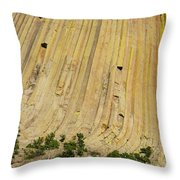 Side Of Devils Tower Throw Pillow
