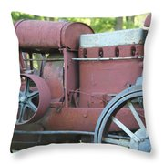 Side Of Mccormic Deering Tractor   # Throw Pillow