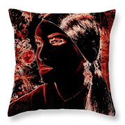 Side Pony Paula Throw Pillow