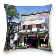 Side Street Cafe Los Olivos Ca Throw Pillow