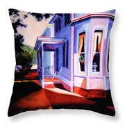 Side Street - Lambertville Throw Pillow