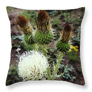 Side Thistle  Throw Pillow