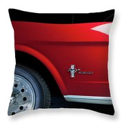 Side View Of 1964 Ford Mustang Throw Pillow