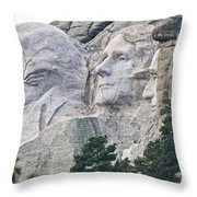 Side View Of Mount Rushmore  8696 Throw Pillow