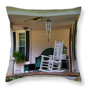 Side View Of Porch Throw Pillow