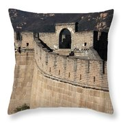 Side View Of The Great Wall Throw Pillow