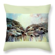 Sidehill Retirees Throw Pillow