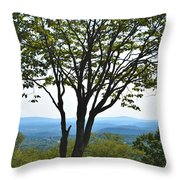 Sideling Hill Lookout  Throw Pillow