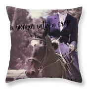 Sidesaddle Quote Throw Pillow