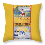 Sideshow Poster, C1975 Throw Pillow by Granger