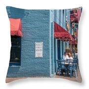 Sidewalk Cafe Annapolis Throw Pillow