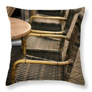 Sidewalk Cafe Texture Throw Pillow