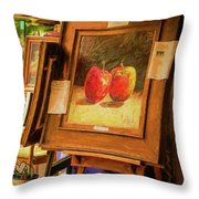 Sidewalk Gallery - Painted Throw Pillow
