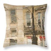 Sidewalk Reflections II Throw Pillow