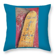Sidewalk Surfboard Throw Pillow