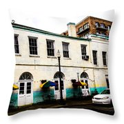 Sidewalk Tables Throw Pillow