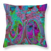 Sidewalk Timepiece Throw Pillow