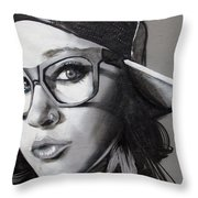 Sideways Hat Throw Pillow