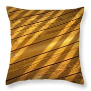 Sideways Sunshine Throw Pillow
