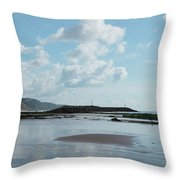 Sidmouth Beach Throw Pillow