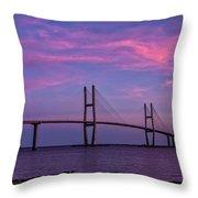 Sidney Lanier Bridge Throw Pillow