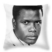 Sidney Poitier (1924-) Throw Pillow