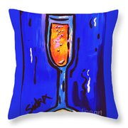Sidzart Pop Art Series 2002 Champagne Celebration Throw Pillow