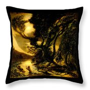 Siegfried And The Rhine Maidens Throw Pillow