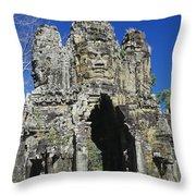 Siem Reap, Angkor Thom Throw Pillow