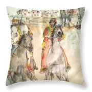 Siena And Their Palio Album Throw Pillow