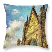 Siena Duomo Facade In The Sunset Throw Pillow