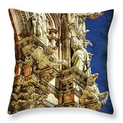 Siena Duomo Statues 1 Throw Pillow