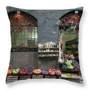Siena Italy Fruit Shop Throw Pillow