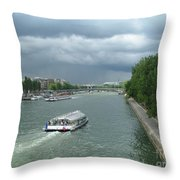 Seine River Throw Pillow