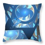 Sienna Blue Honeycomb Throw Pillow