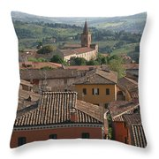 Sienna Rooftops Throw Pillow by Tom Reynen