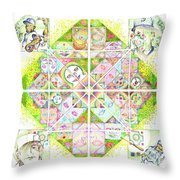 Sierpinski's Baseball Diamond Throw Pillow