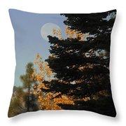 Sierra Autumn Moonset Throw Pillow
