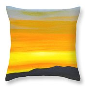 Sierra Foothills Sunrise Throw Pillow