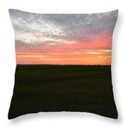 Sierra Foothills Sunset Throw Pillow