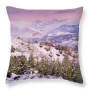 Sierra Nevada At Sunset Throw Pillow