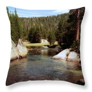 Sierra Nevada Mountain Stream Throw Pillow