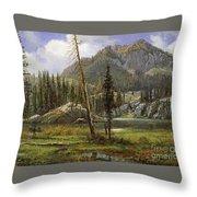 Sierra Nevada Mountains Throw Pillow