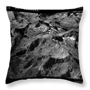 Sierra Nevada's Planer Earth Bw Throw Pillow