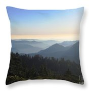 View From Beetle Rock Throw Pillow