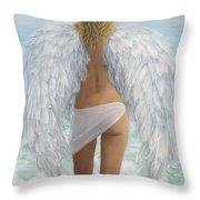 Siesta Key Beach Angel Throw Pillow