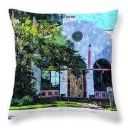 Siesta Key Beach Cottage Throw Pillow