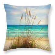 Siesta Key Beach Dunes  Throw Pillow